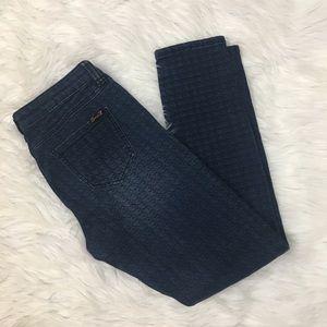 Seven7 skinny jeans w/houndstooth printsz 2